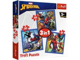 """Puzzle   """"3w1"""" TREFL Spider-Man - Pajêcza si³a"""