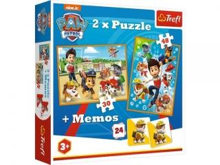"Puzzle   ""2w1 + memos"" TREFL Psi Patrol na ratunek"