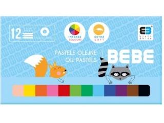 Pastele olejne INTERDRUK BxB Kids pastel 12 kolorów