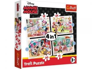 """Puzzle   """"4w1"""" TREFL Minnie z przyjació³mi"""