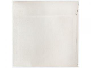 Koperta kwadratowa 160x160 (25szt) Per³owe Bia³e zest.538
