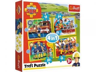 "Puzzle   ""4w1"" TREFL Pomocny stra¿ak Sam"