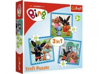 """Puzzle   """"3w1"""" TREFL Bing - Zabawy z przyjació³mi"""