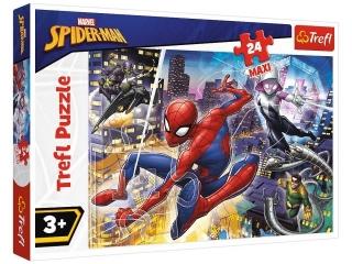 Puzzle   24 Maxi TREFL Nieustraszony Spider-Man