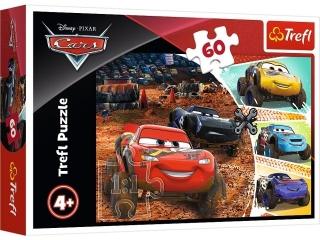 Puzzle   60 TREFL Cars 3 -  Zygzak McQueen z przyjació³mi