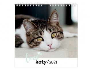 Kalendarz planszowy INTERDRUK 32x32 - Koty 2021