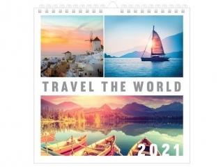 Kalendarz planszowy INTERDRUK 32x32 - Podró¿e 2021