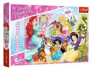 Puzzle  160 TREFL Disney Ksiê¿niczki - Ksiê¿niczki i przyjac