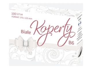 Koperta bia³a B6 (100szt)  zest. 523