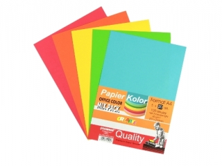 PAPIER OFFICE COLOR A4/100-5 STANDARD MI X PSH k30