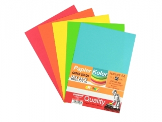 PAPIER OFFICE COLOR A4/200-5 STANDARD MIX  PASTEL MIX k12