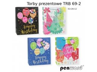 TORBY PREZENTOWE TRB 69-2 32x26x12 [opakowanie=12szt]
