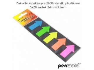 Zak³adki indeksuj±ce PENWORD ZI-39 strza³ki plastikowe 5x20k