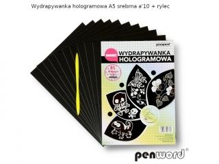 WYDRAPYWANKA HOLOGRAMOWA A5 SREBRNA a10+2rylce