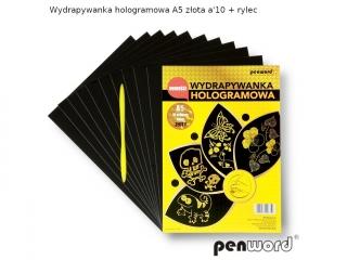 WYDRAPYWANKA HOLOGRAMOWA A5 Z?OTA a10 +2rylce