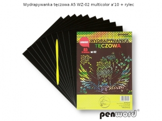 Wydrapywanka PENWORD A5 WZ-02 multicolor 10ark. +2rylce