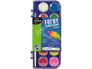Farby akwarelowe KIDEA 12 kolorów