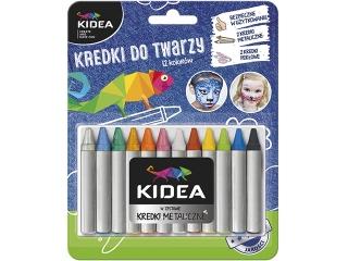Kredki do twarzy KIDEA 12 kolorów x 2,5g