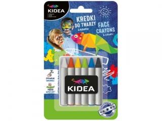 Kredki do twarzy KIDEA 6 kolorów x 2,5g