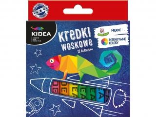 Kredki woskowe KIDEA 12 kolorów
