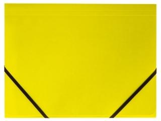 Teczka kartonowa TETIS z gumk± naro¿na A4 limonkowa