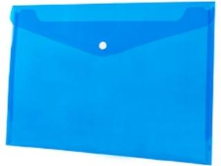 Koperta PP na zatrzask TETIS A4 niebieska