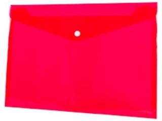 Koperta PP na zatrzask TETIS A4 czerwona