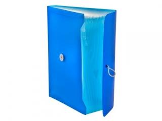 Teczka harmonijkowa PP TETIS z gumk± 13 przegród A4 niebiesk
