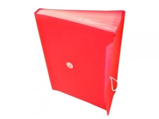 Teczka harmonijkowa PP TETIS z gumk± 13 przegród A4 czerwona