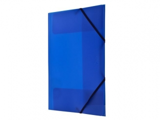 Teczka PP TETIS z gumk± naro¿n± A4 niebieska