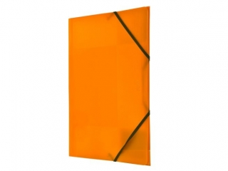 Teczka PP TETIS z gumk± naro¿n± A4 pomarañczowa