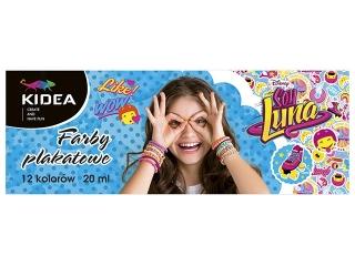 Farby plakatowe 12 kolorów DERFORM Soy Luna