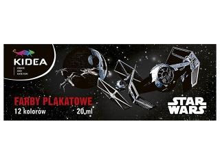 Farby plakatowe 12 kolorów DERFORM Star Wars
