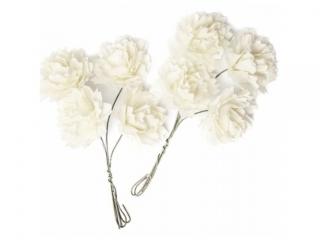 Kwiaty papierowe DPCRAFT Ecru 8szt.