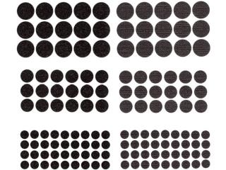 Rzepy samoprzylepne DPCRAFT Okr±g³e, mix czarne 69szt.