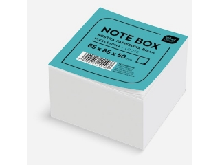 Kostka papierowa INTERDRUK bia³a 85x85x50 mm nieklejona