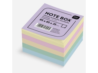Kostka papierowa INTERDRUK kolorowa 85x85x35mm