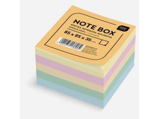 Kostka papierowa kolorowa 85x85x35 mm nieklejona
