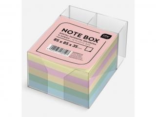 Kostka papierowa kolorowa INTERDRUK 85x85x35mm w kubiku