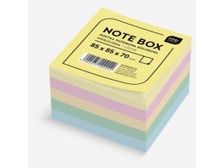 Kostka papierowa INTERDRUK kolorowa 85x85x70 mm nieklejona