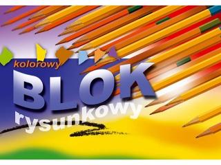 Blok rysunkowy kolorowy A4 16k. KRESKA