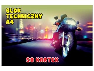 Blok techniczny A4 50k. SDM bia³y