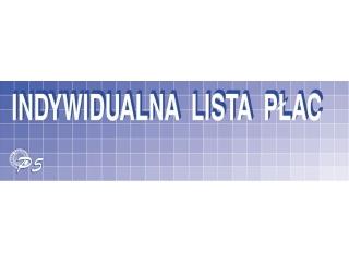Druk P5 Indywidualna lista p³ac 1/3 A3