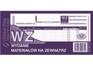 Druk 351-8 WZ wydanie materia³ów na zewn±trz 1/3 A4