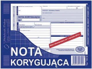 Druk-nota koryguj±ca 108-3E