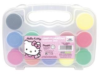 Farby plakatowe 12 kolorów w etui DERFORM Hello Kitty
