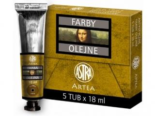 Farby olejne 18ml 5szt siena palona