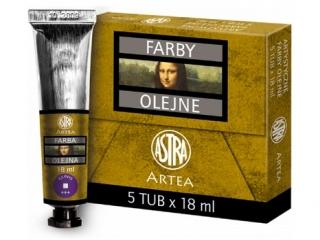 Farby olejne 18ml 5szt ultramaryna fioletowa