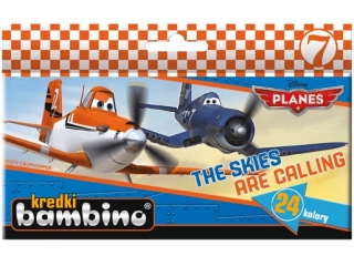 Kredki BAMBINO 24 kolory Planes