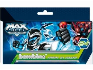Kredki BAMBINO 24 kolory Max Steel